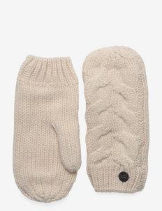 Nora Wool Mittens - accessories - powder white