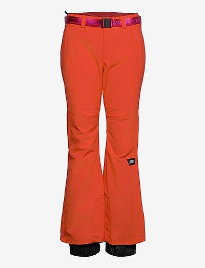 PW STAR SLIM PANTS - skibukser - fiery red