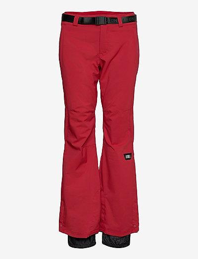 PW STAR SLIM PANTS - skibukser - rio red