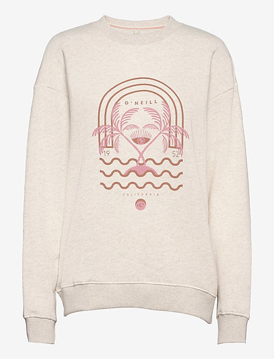 LW CALI GRAPHIC CREW - sweatshirts - white melee