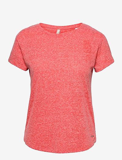 LW ESSENTIALS T- SHIRT - t-shirts - hot coral