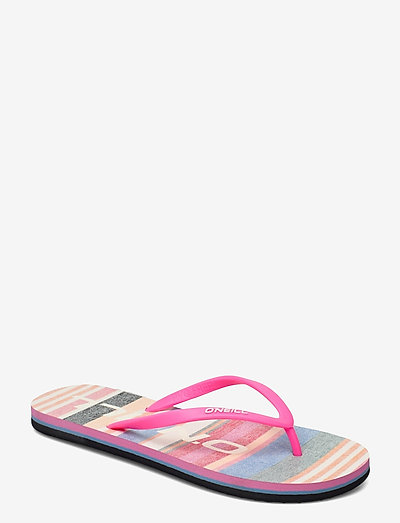 FW PROFILE GRAPHIC SANDALS - schuhe - yellow aop w/red