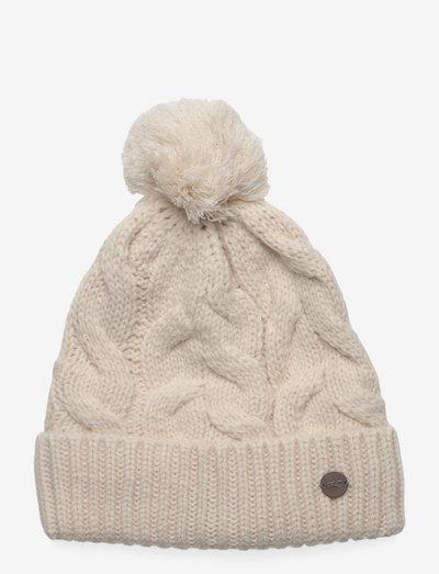 Nora Wool Beanie - kapelusze - powder white