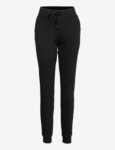Yoga Slim Sweatpant - PO - pants - blackout - a