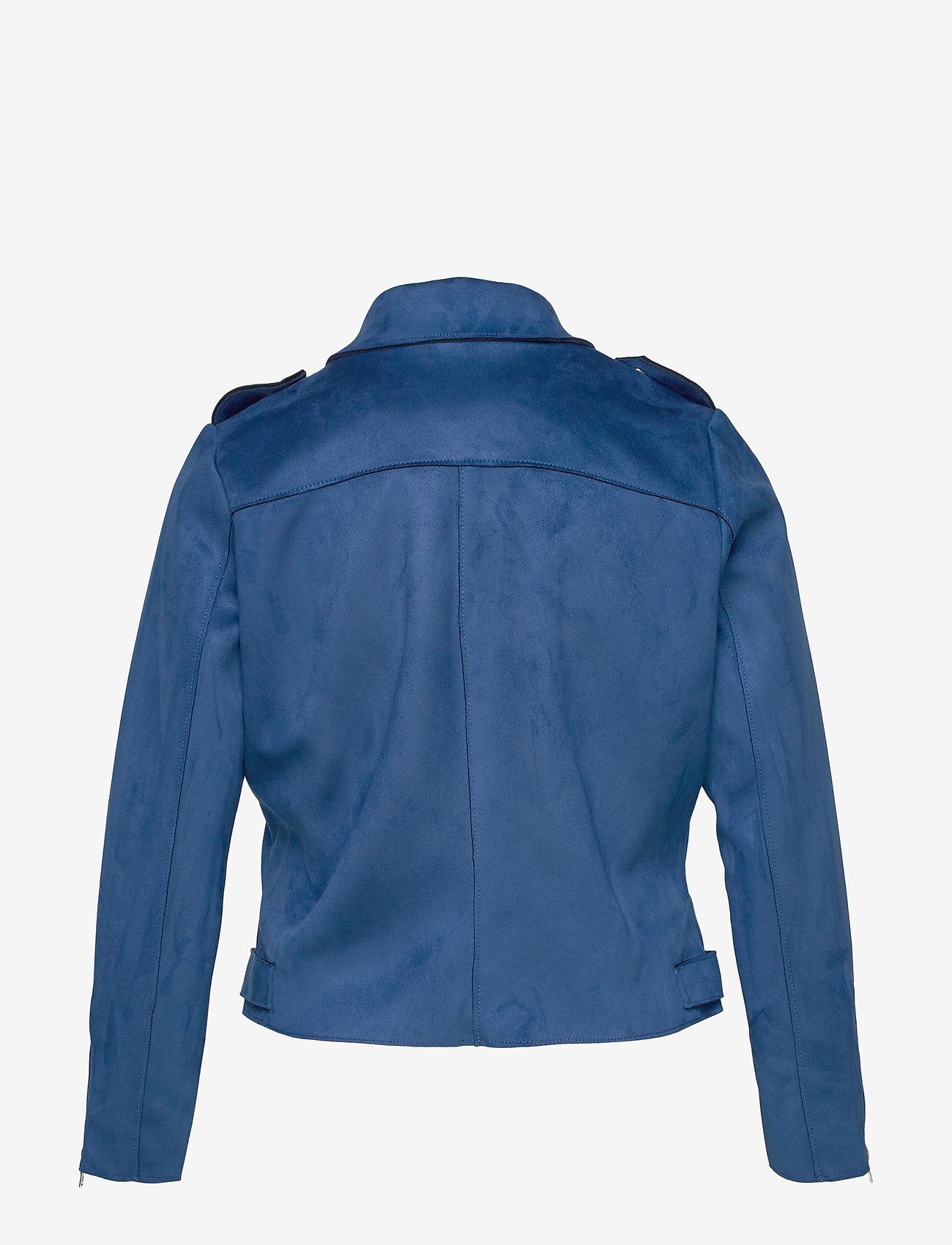 Only Carmakoma Carsherry Bonded Biker Otw - Jackor & Kappor Mazarine Blue