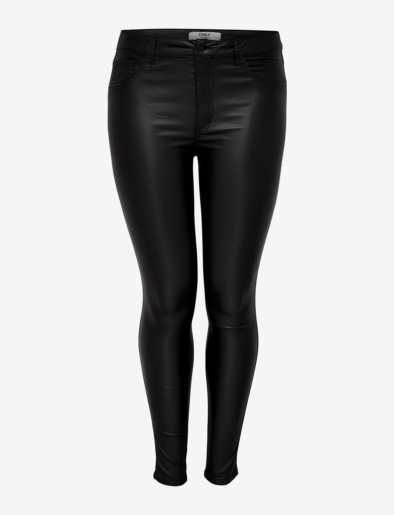 ONLY Carmakoma - CARPUNK REG SK COATED PANTS - slim fit bukser - black - 0