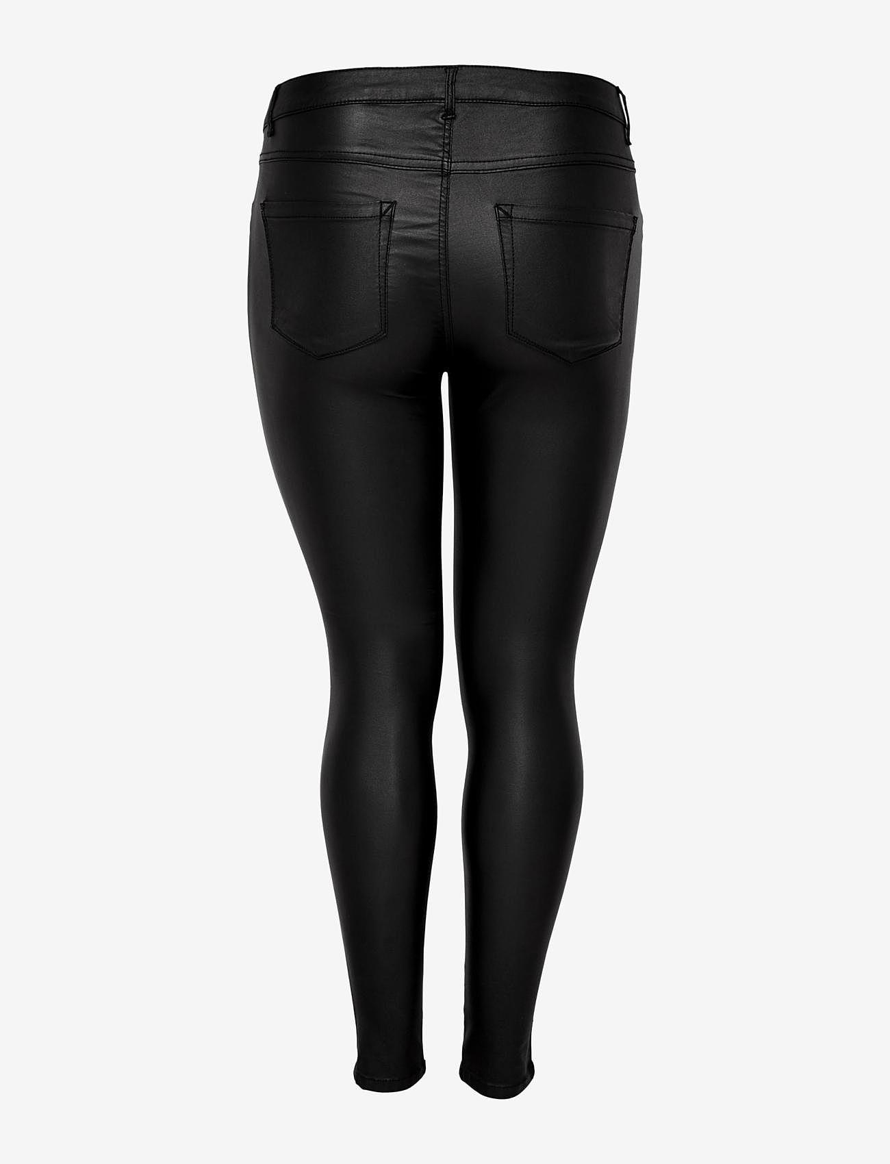 ONLY Carmakoma - CARPUNK REG SK COATED PANTS - slim fit bukser - black - 1