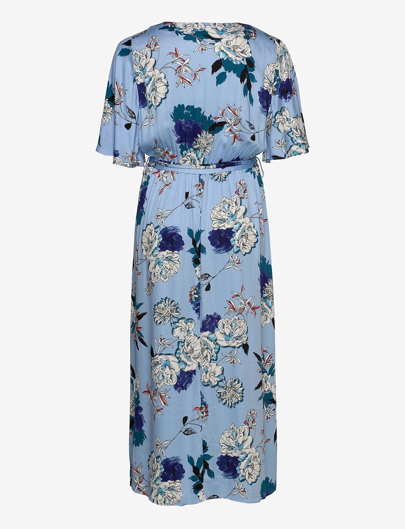 ONLY Carmakoma - CARFLONE 2/4 BAT SLEEVE MAXI  DRESS - wrap dresses - placid blue