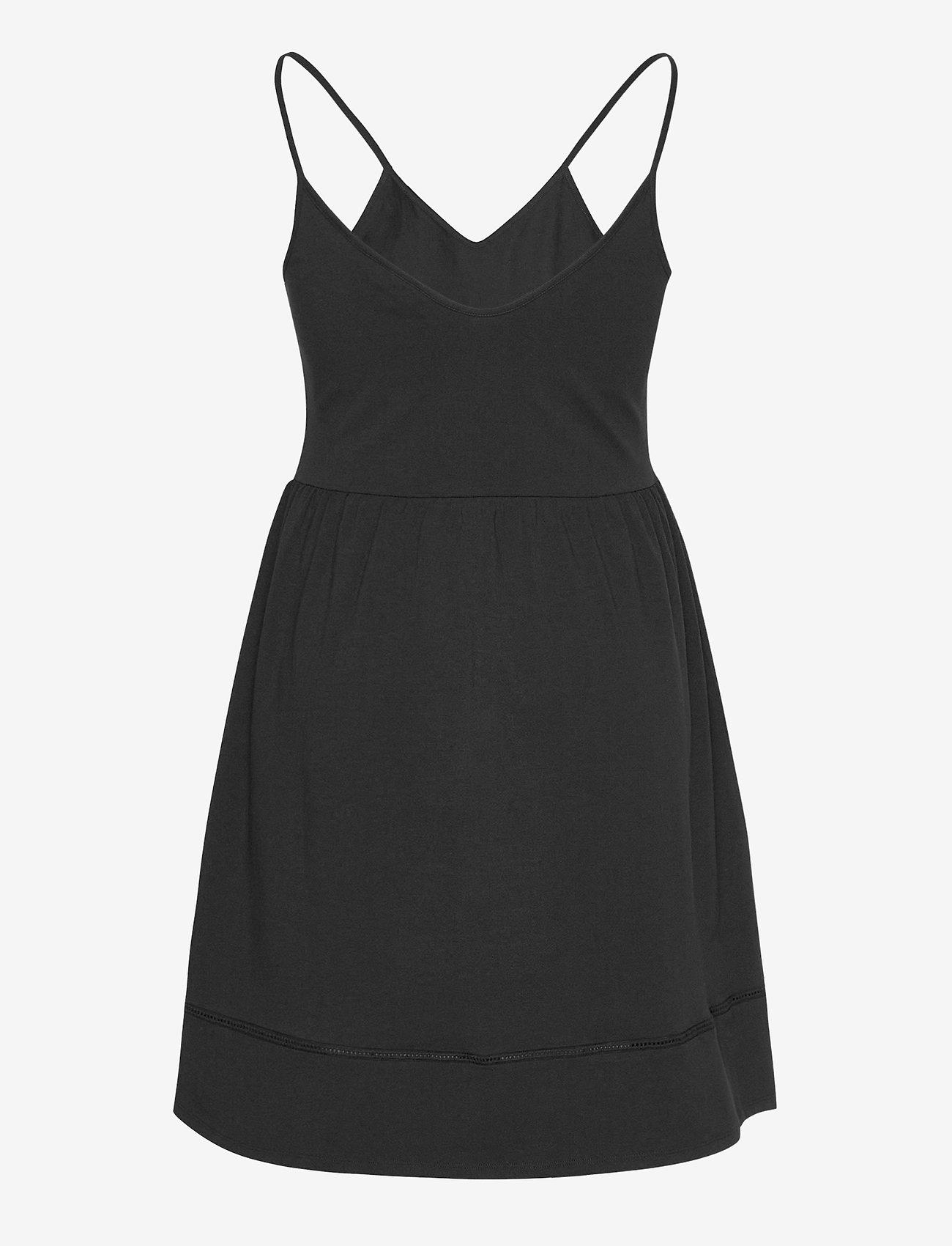 ONLY Carmakoma - CARKALLON LIFE  SL KNEE DRESS ESS - short dresses - black