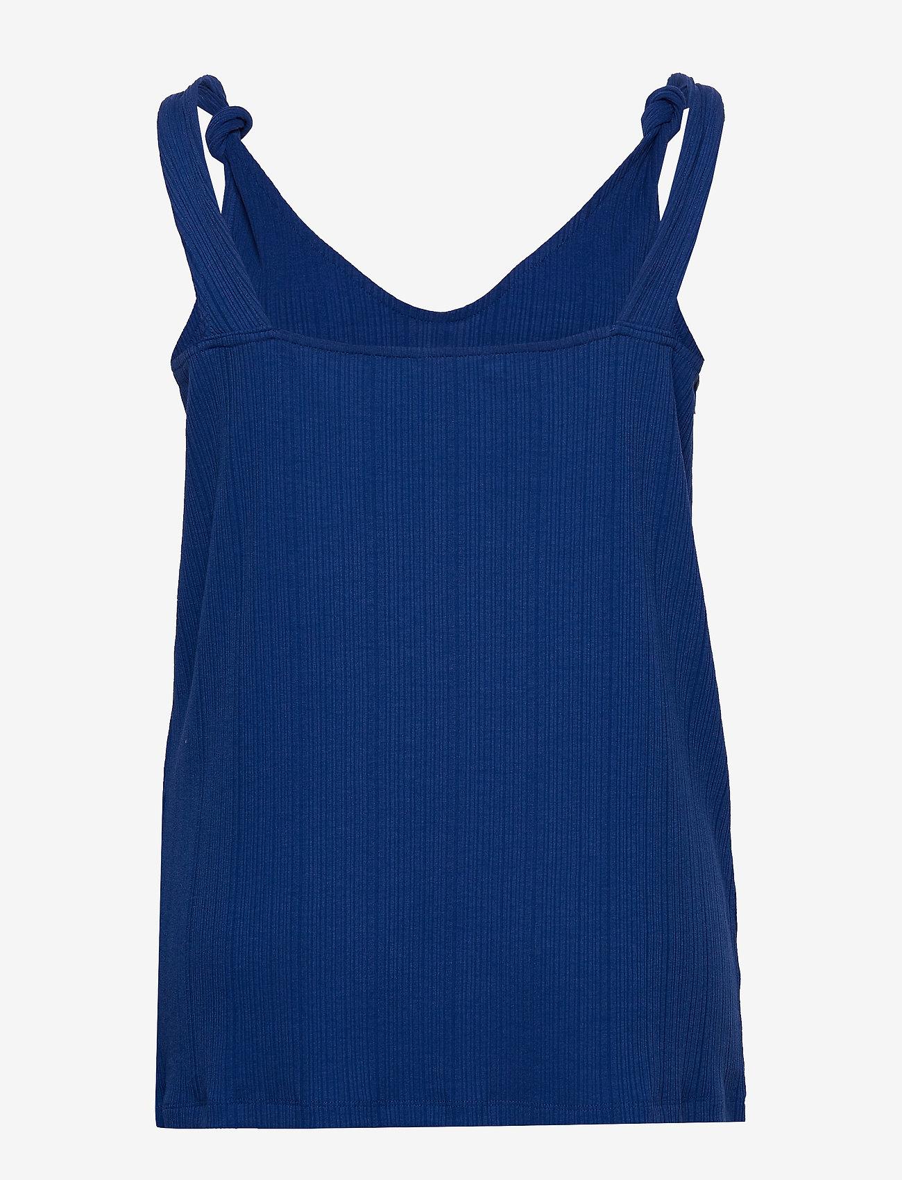 ONLY Carmakoma - CARSOPHIA SL TOP - sleeveless tops - mazarine blue