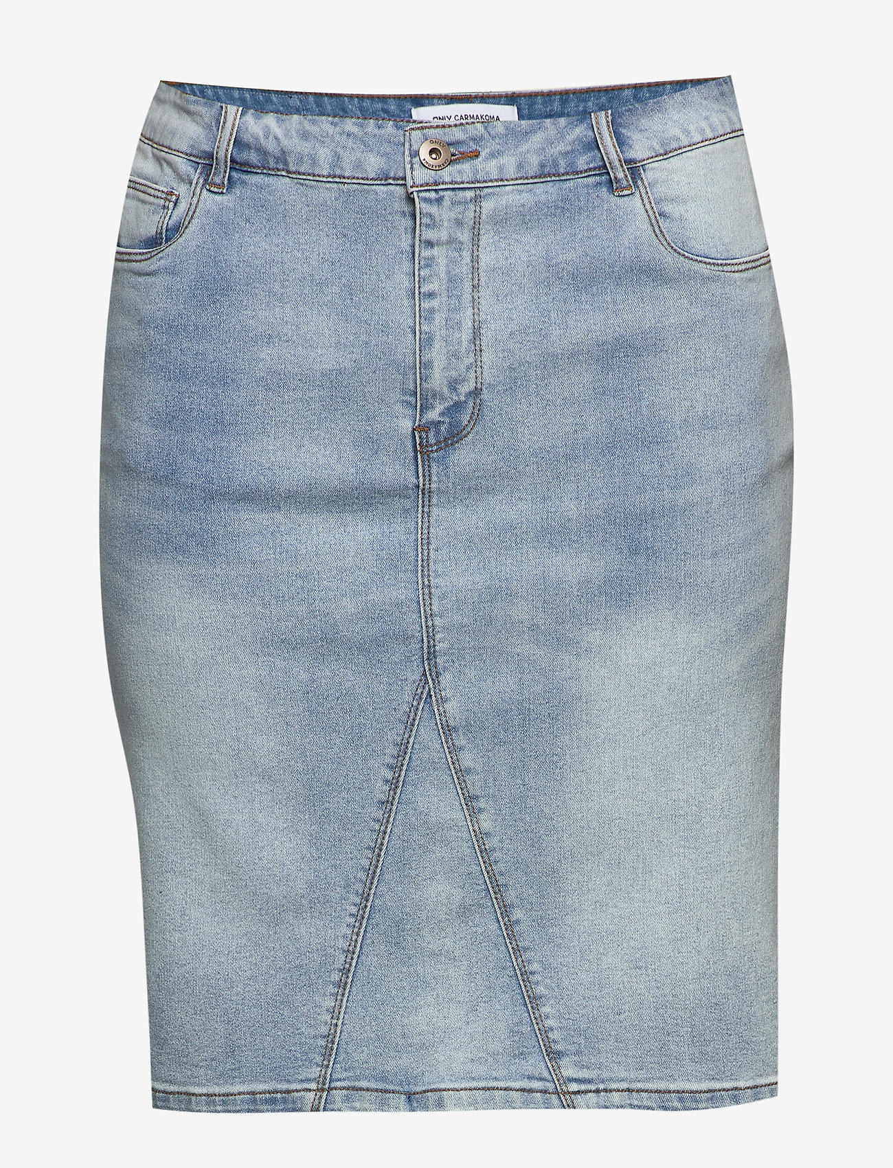 ONLY Carmakoma - CARMILA REG SKIRT - denim skirts - light blue denim