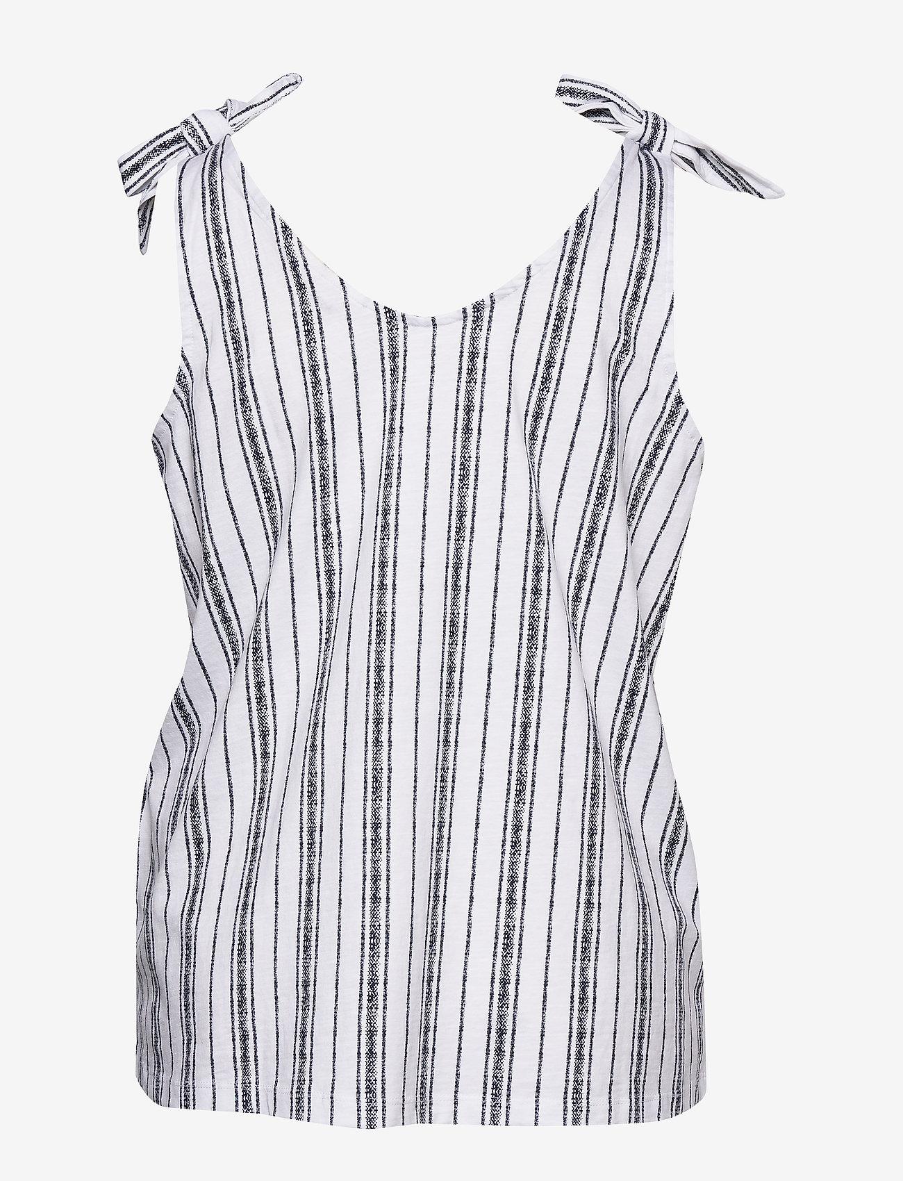 ONLY Carmakoma - CARADELE LIFE TIE SINGLET - sleeveless blouses - bright white