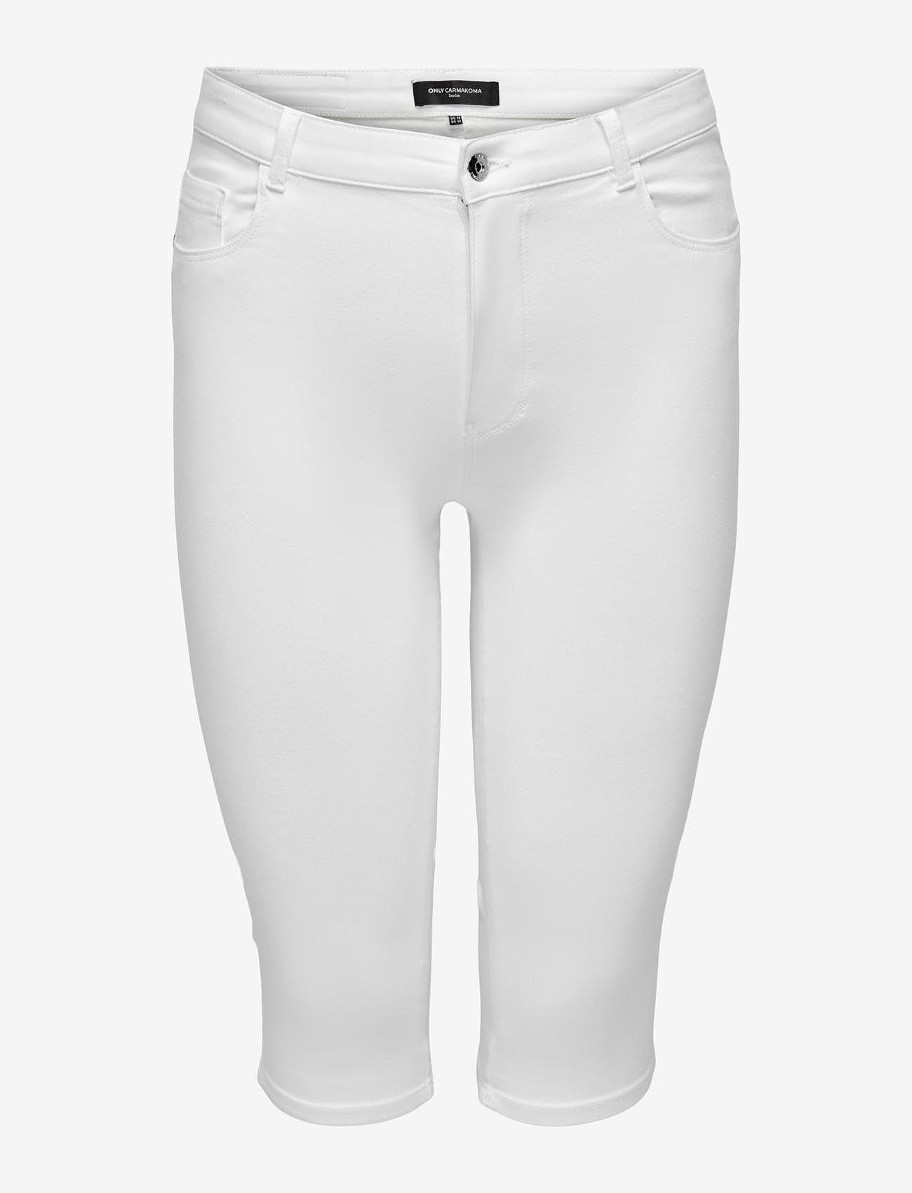 ONLY Carmakoma - CARAUGUSTA LIFE HW SKINNY KNICKERS WHITE - pantalons capri - white - 0