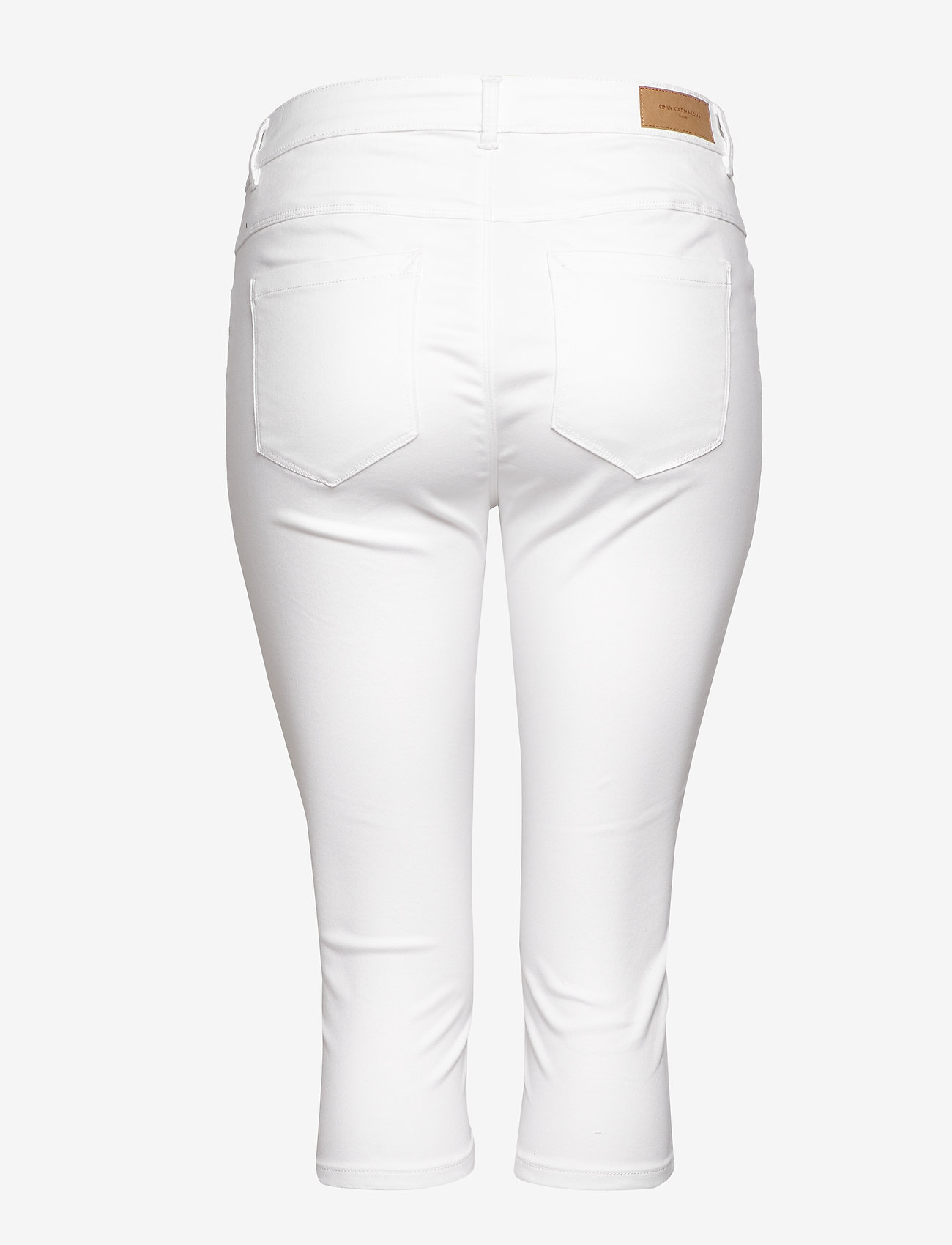 ONLY Carmakoma - CARAUGUSTA LIFE HW SKINNY KNICKERS WHITE - pantalons capri - white - 1