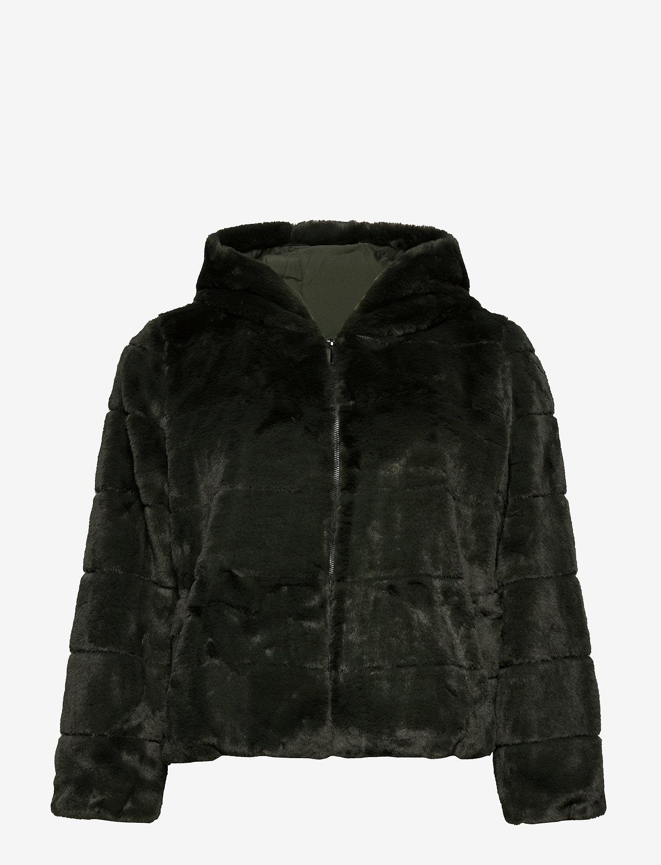 ONLY Carmakoma - CARCHRIS FUR HOODED JACKET OTW - faux fur - rosin - 0