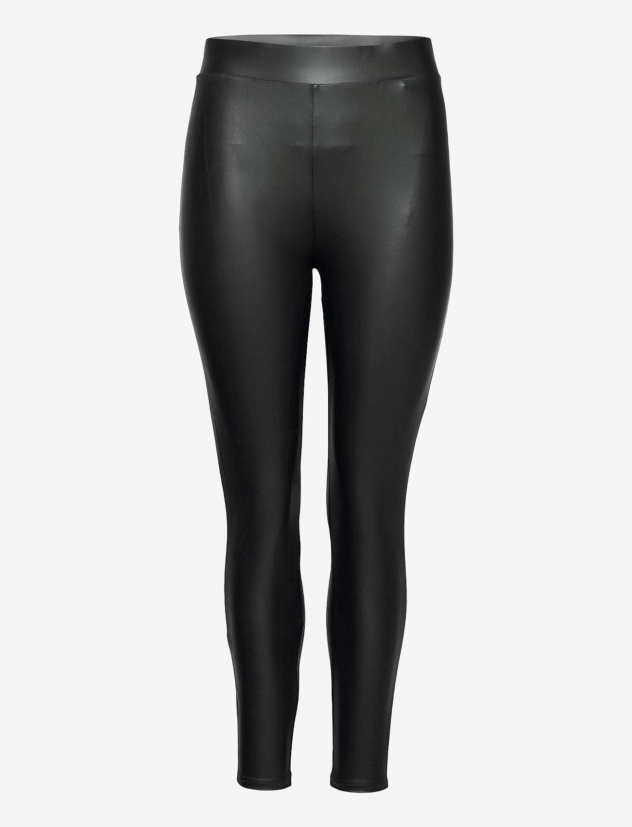 ONLY Carmakoma - CARROOL COATED LEGGING - læderbukser - black - 0