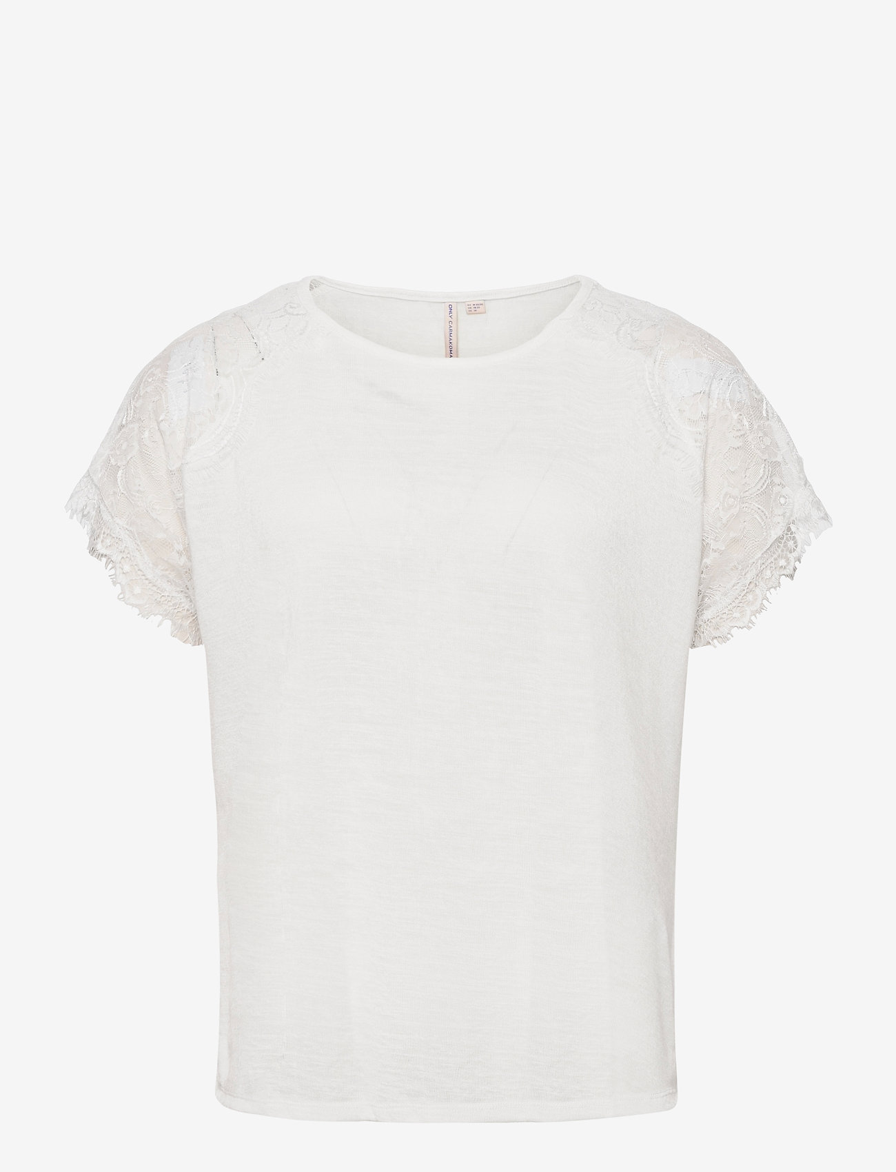 ONLY Carmakoma - CARCELINE SS MIX TOP ESS - t-shirts - cloud dancer - 0