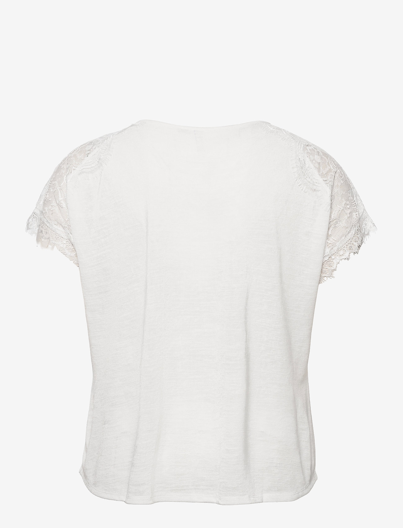 ONLY Carmakoma - CARCELINE SS MIX TOP ESS - t-shirts - cloud dancer - 1