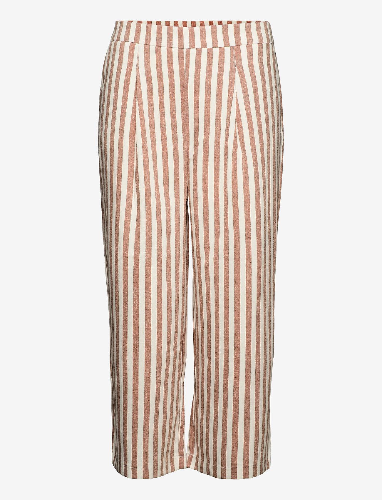 ONLY Carmakoma - CARCARIS CULOTTE PANT - bukser med brede ben - almondine - 0