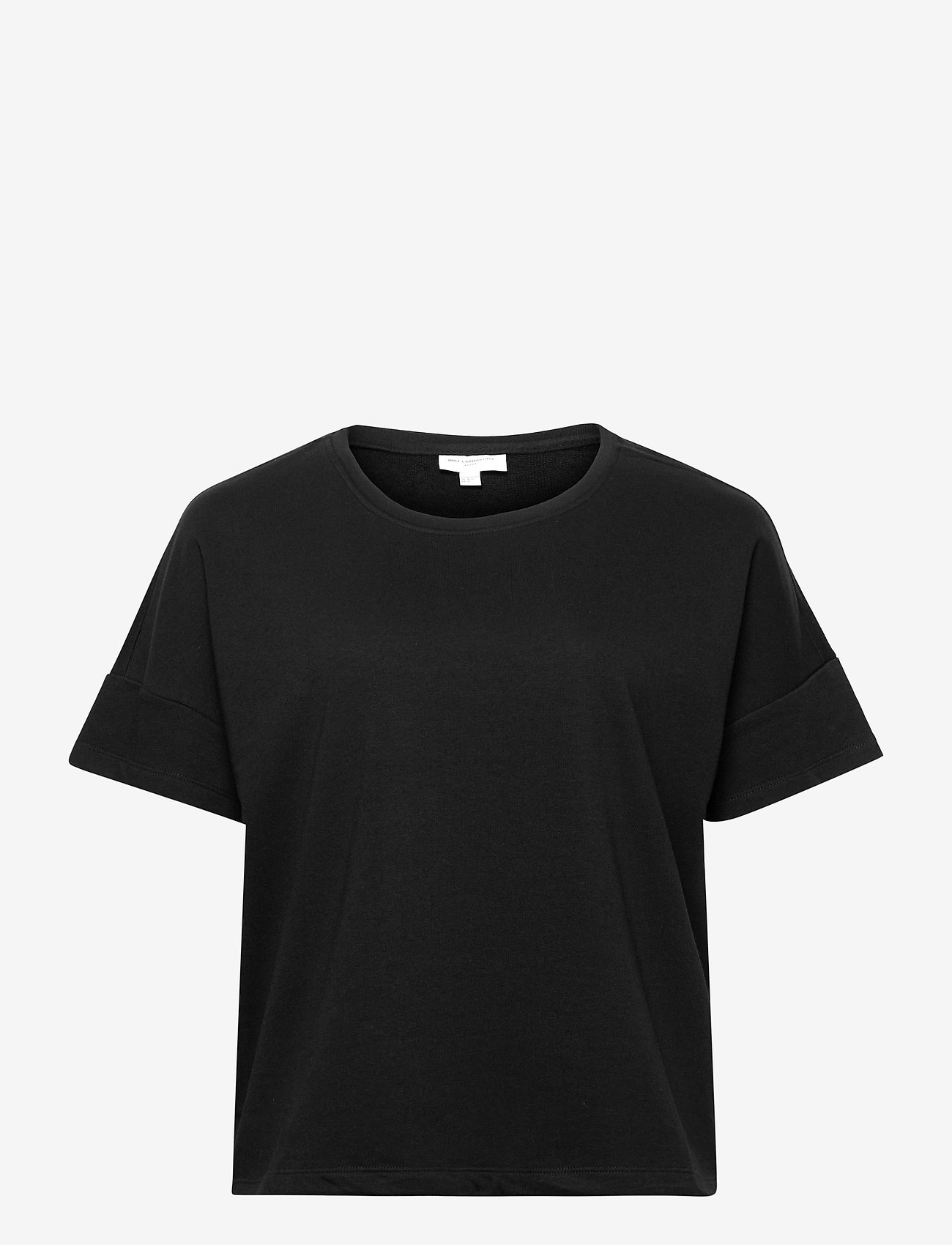 ONLY Carmakoma - CARISSY LIFE SS TOP SWT - t-shirts - black - 0
