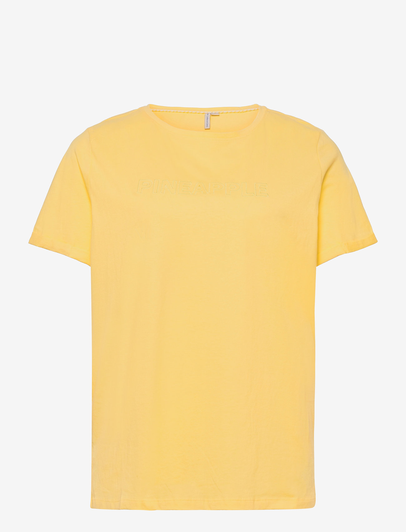 ONLY Carmakoma - CARMAI LIFE SS REG TEE - t-shirts - sunshine - 0