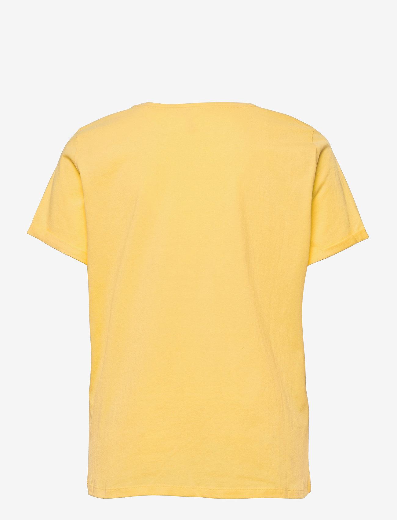 ONLY Carmakoma - CARMAI LIFE SS REG TEE - t-shirts - sunshine - 1