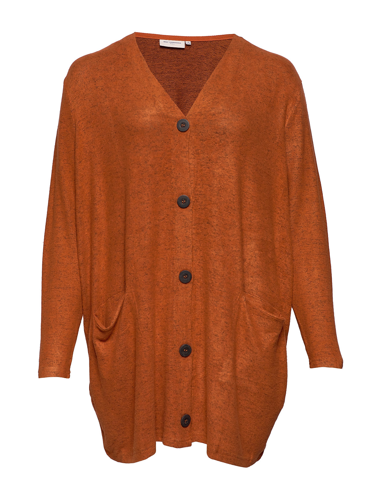 ONLY Carmakoma CARINDIA L/S CARDIGAN ESS - GINGER BREAD
