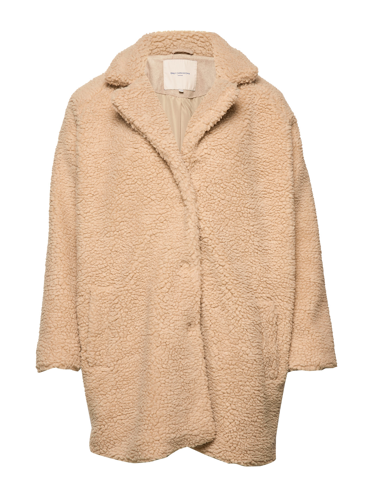 Image of Caraurelia Sherpa Coat Otw Outerwear Faux Fur Beige ONLY Carmakoma (3222480083)
