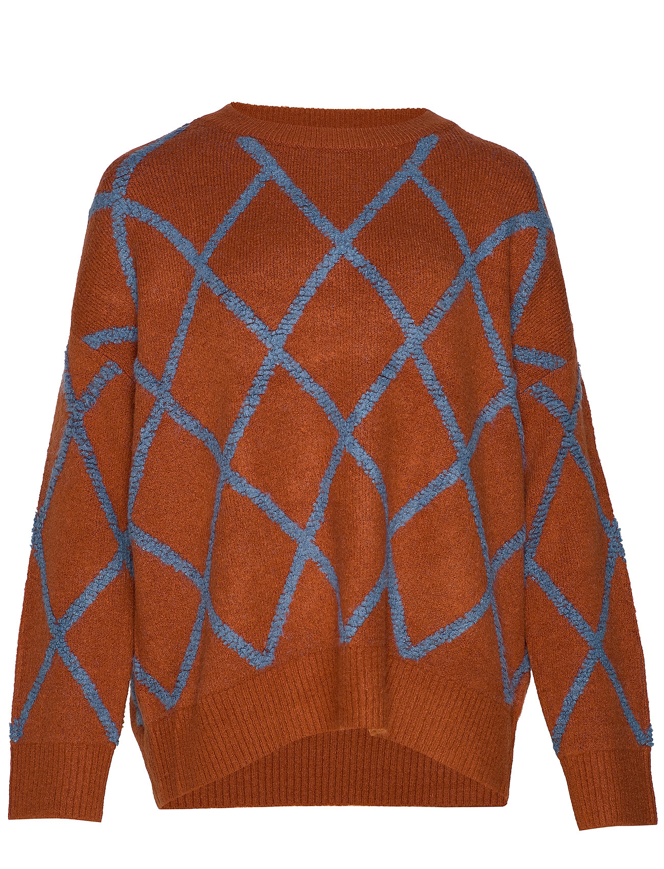ONLY Carmakoma CARWENDY LS O-NECK PULLOVER - GINGER BREAD