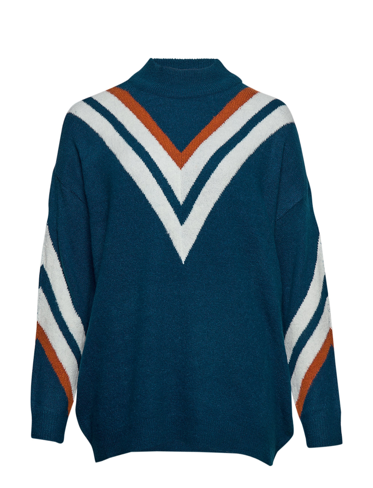 ONLY Carmakoma CARVALDE LS HIGH NECK PULLOVER - BLUE OPAL