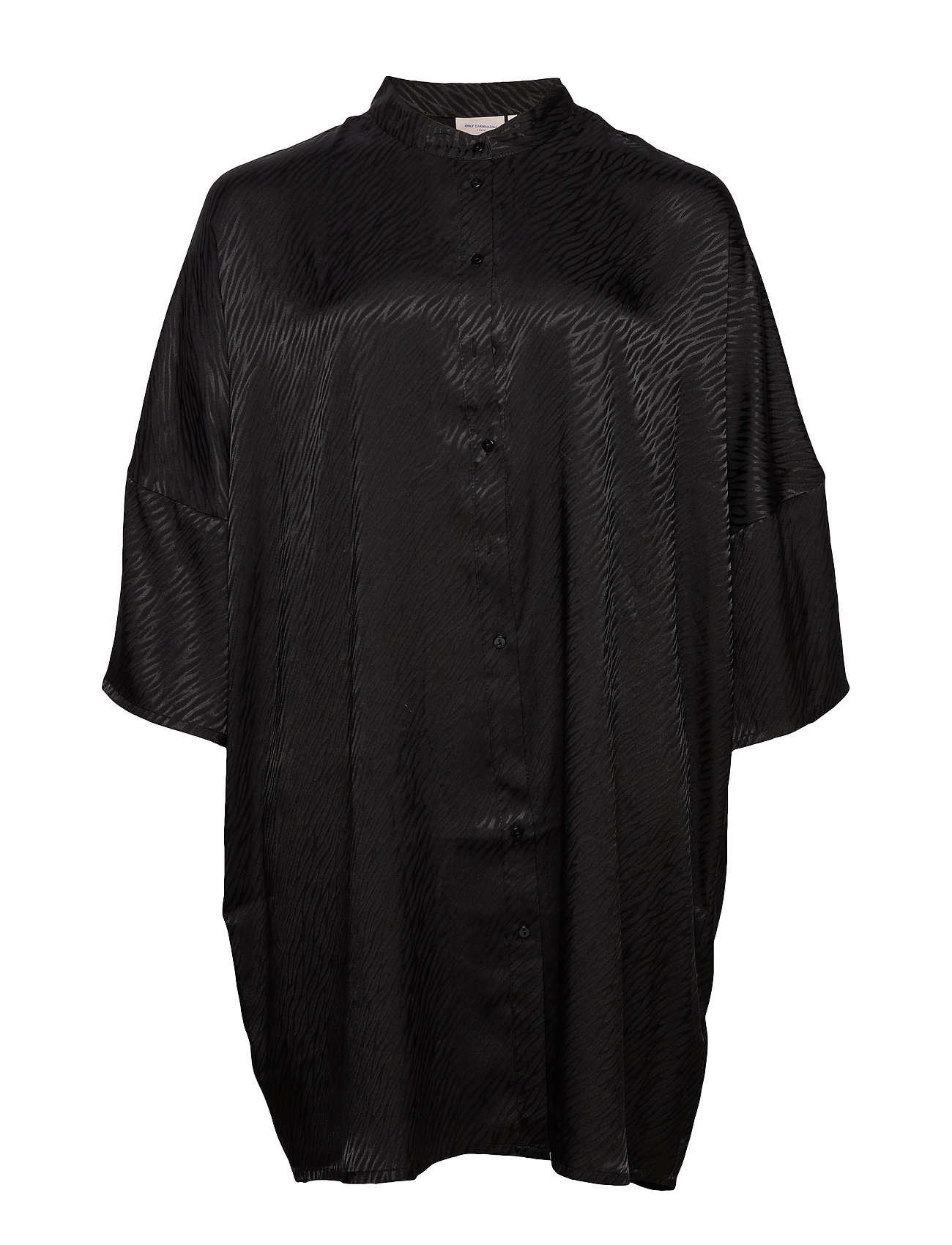 ONLY Carmakoma CARLEONORA 3/4 SL TUNIC SHIRT DRESS - BLACK