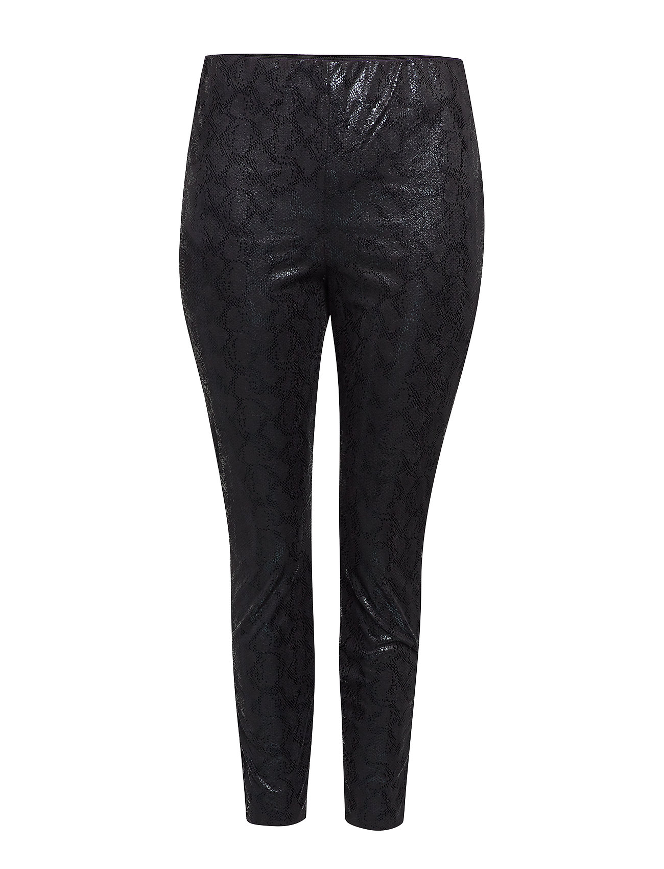 ONLY Carmakoma CARMADDIE FAUX SUEDE SNAKE LEGGINGS - BLACK