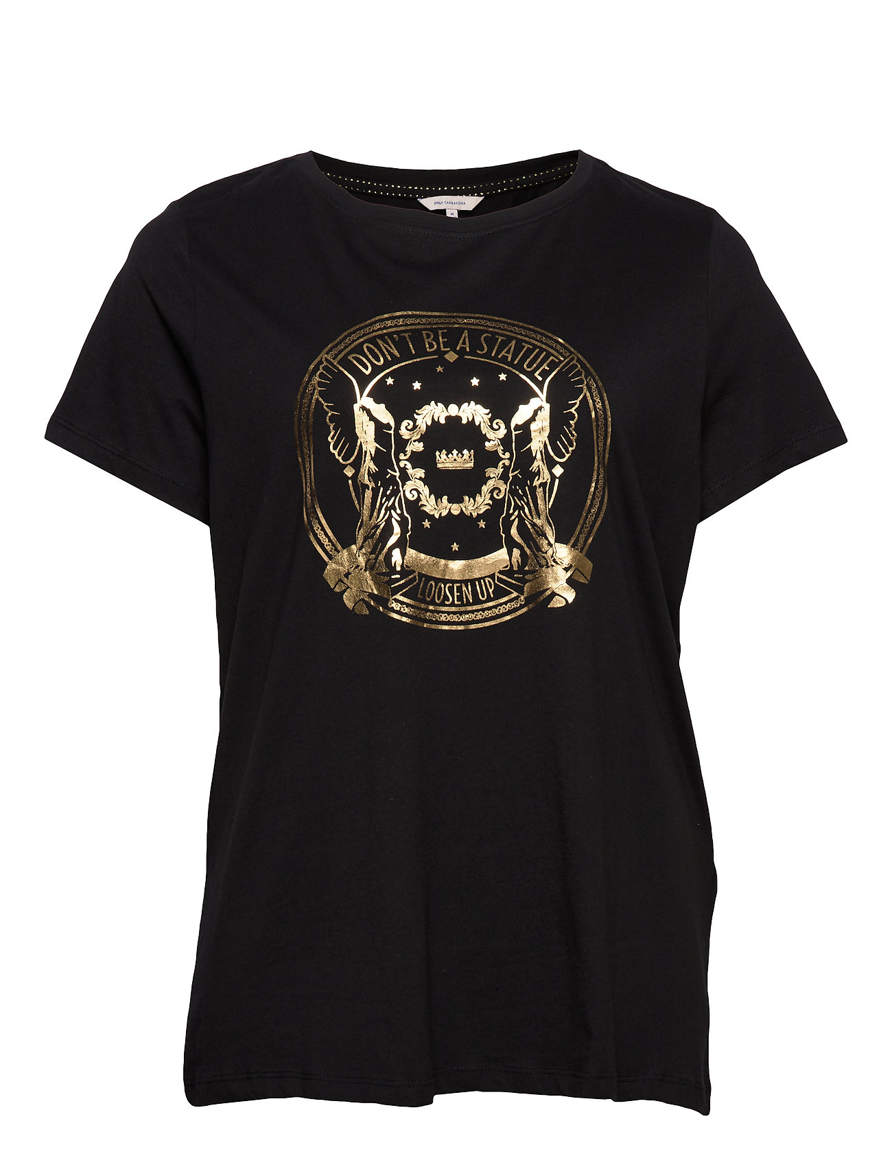 ONLY Carmakoma CARGLAM SS TEE SUS - BLACK