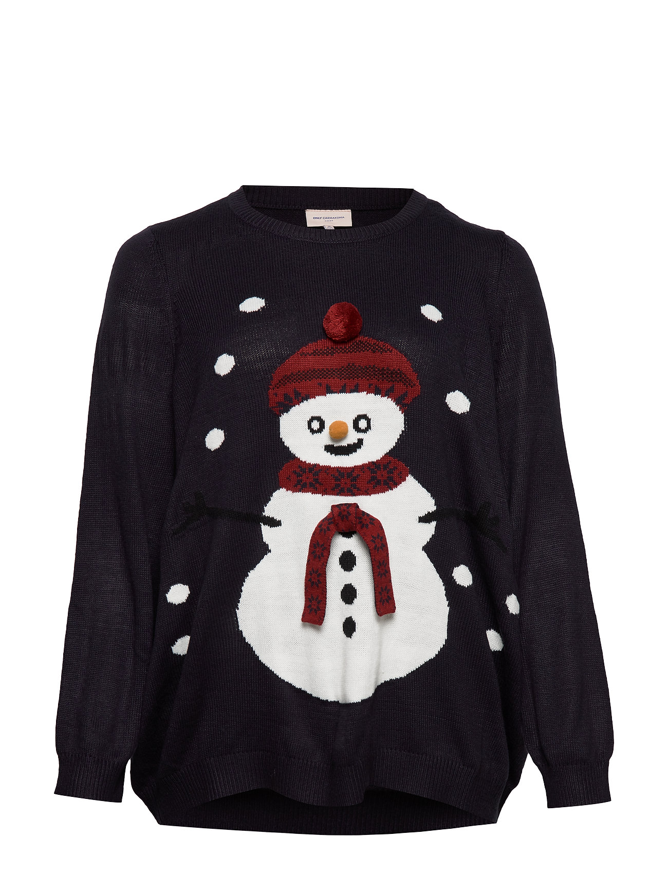 ONLY Carmakoma CARSNOWMAN LS PULLOVER - NIGHT SKY