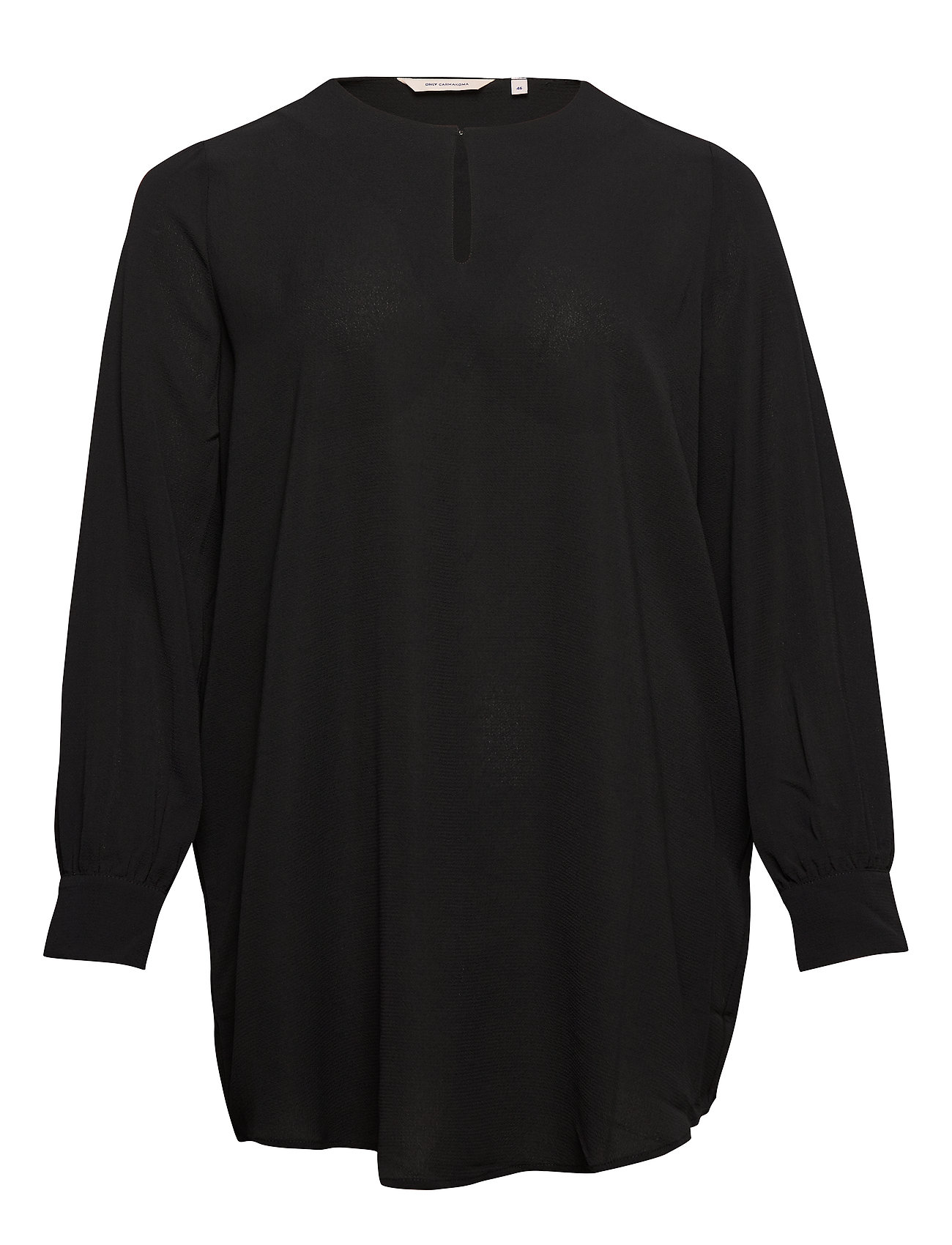 ONLY Carmakoma CARLUXANNA LS BLOUSE SOLID - BLACK