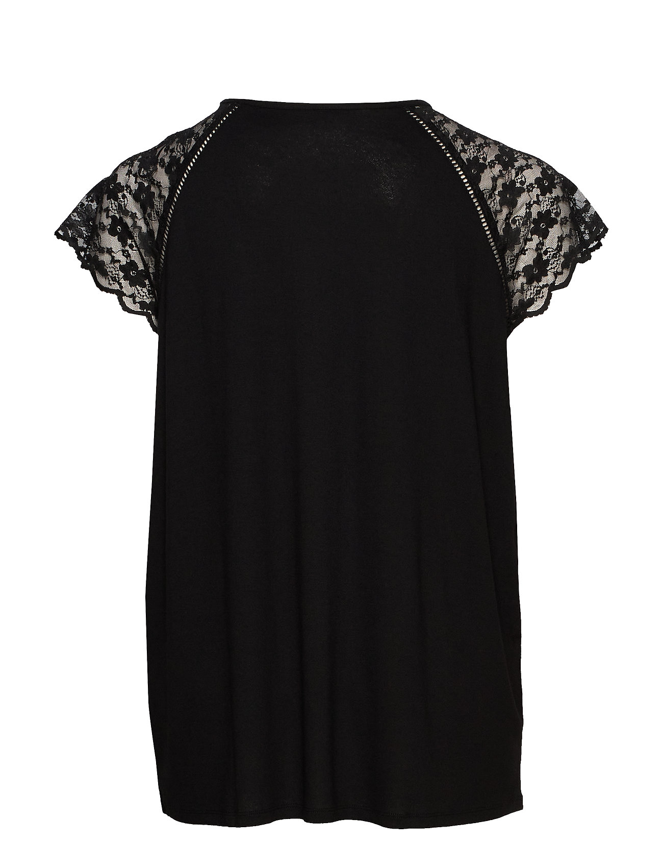 Only Carmakoma Caramber Ss Lace Top Ess - T-shirts & Toppar