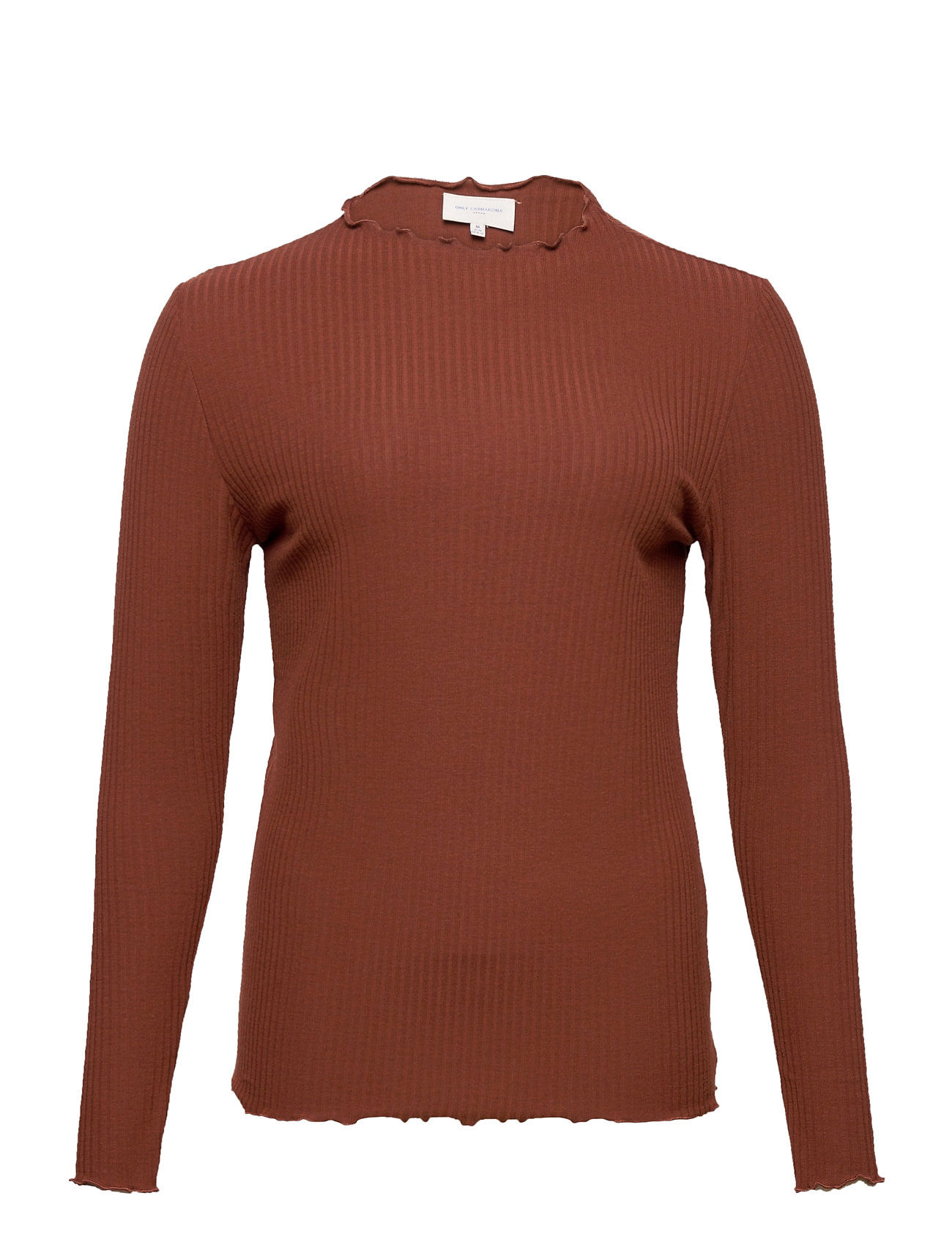 Image of Carally Ls High Neck Top Ess Langærmet T-shirt Rød ONLY Carmakoma (3456992671)
