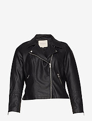 ONLY Carmakoma - CAREMMY FAUX LEATHER BIKER NOOS - leather jackets - black - 1