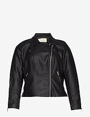 ONLY Carmakoma - CAREMMY FAUX LEATHER BIKER NOOS - leather jackets - black - 2