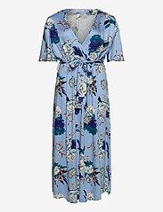 ONLY Carmakoma - CARFLONE 2/4 BAT SLEEVE MAXI  DRESS - wrap dresses - placid blue - 0