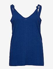 ONLY Carmakoma - CARSOPHIA SL TOP - sleeveless tops - mazarine blue - 0
