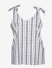 ONLY Carmakoma - CARADELE LIFE TIE SINGLET - sleeveless blouses - bright white - 0