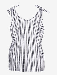 ONLY Carmakoma - CARADELE LIFE TIE SINGLET - sleeveless blouses - bright white - 1