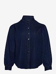ONLY Carmakoma - CARNADA LIFE  LS SHIRT - jeansblouses - dark blue denim - 0