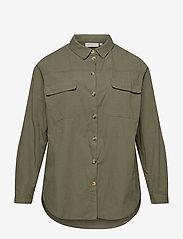 ONLY Carmakoma - CARCORINNE LS SHIRT - overshirts - kalamata - 0