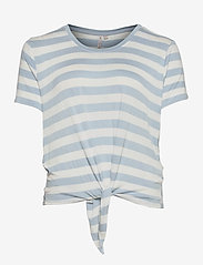 ONLY Carmakoma - CARARLY SS KNOT TOP - t-shirts - cashmere blue - 0
