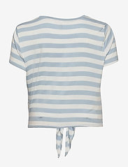 ONLY Carmakoma - CARARLY SS KNOT TOP - t-shirts - cashmere blue - 1