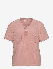 ONLY Carmakoma - CARSILJE SS TOP - t-shirts - adobe rose - 0