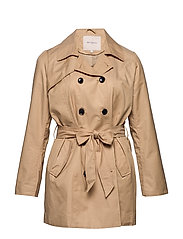 CARANIA LONG TRENCHCOAT - INCENSE