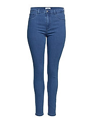 CARSTORM PUSH UP HW SK JEANS MBD NOOS - MEDIUM BLUE DENIM